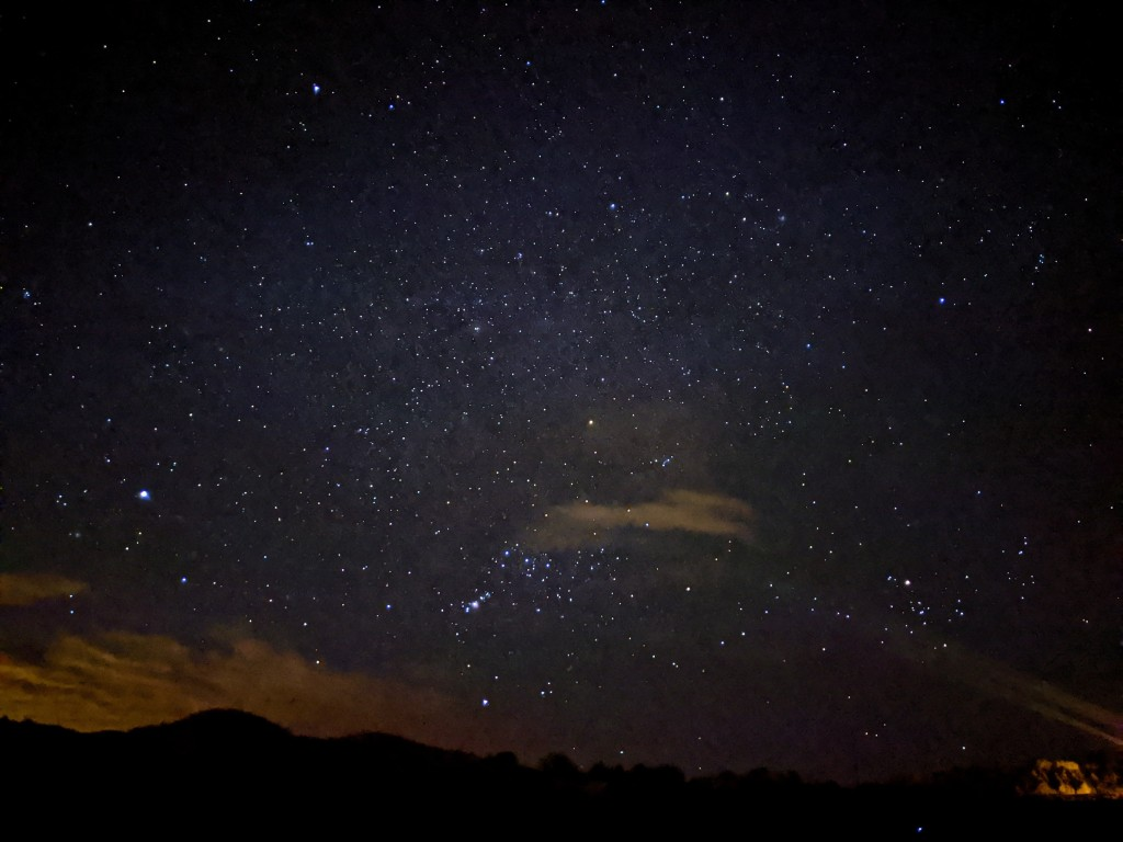 Star filled night time sky